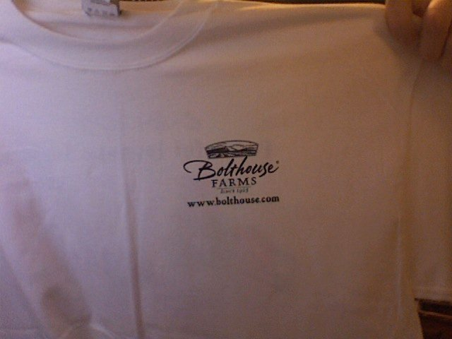 Front Bolthouse Farms t-shirt