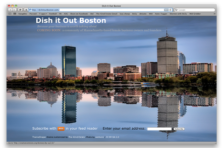 The Dish It Out Boston pre-launch landing page